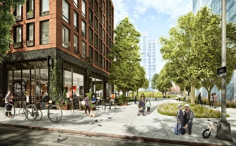 A rendering of Pacific Park in Brookyln's Prospect Heights (courtesy Pacific Park Brooklyn)