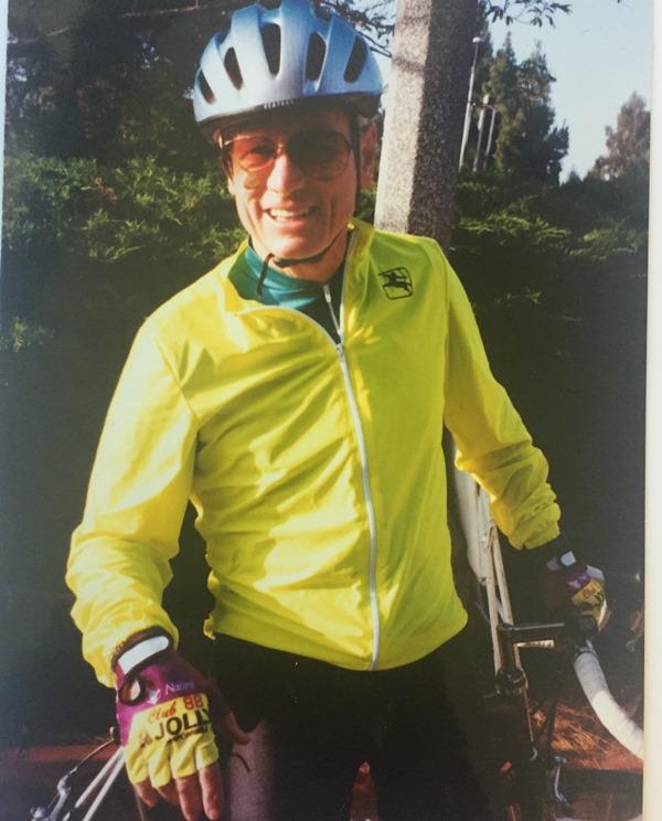 Nicholson on bike