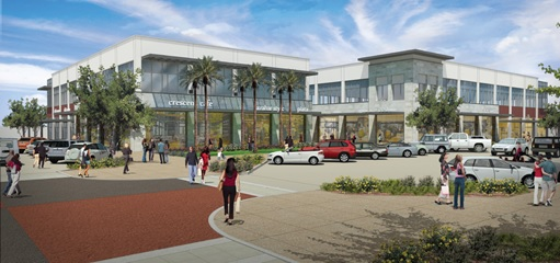 planned rendering of Village Square at Dana Park expansion