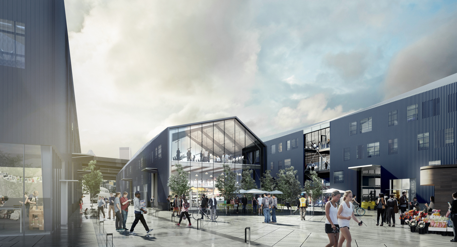 Rendering of the prospective Water Avenue Yards redevelopment