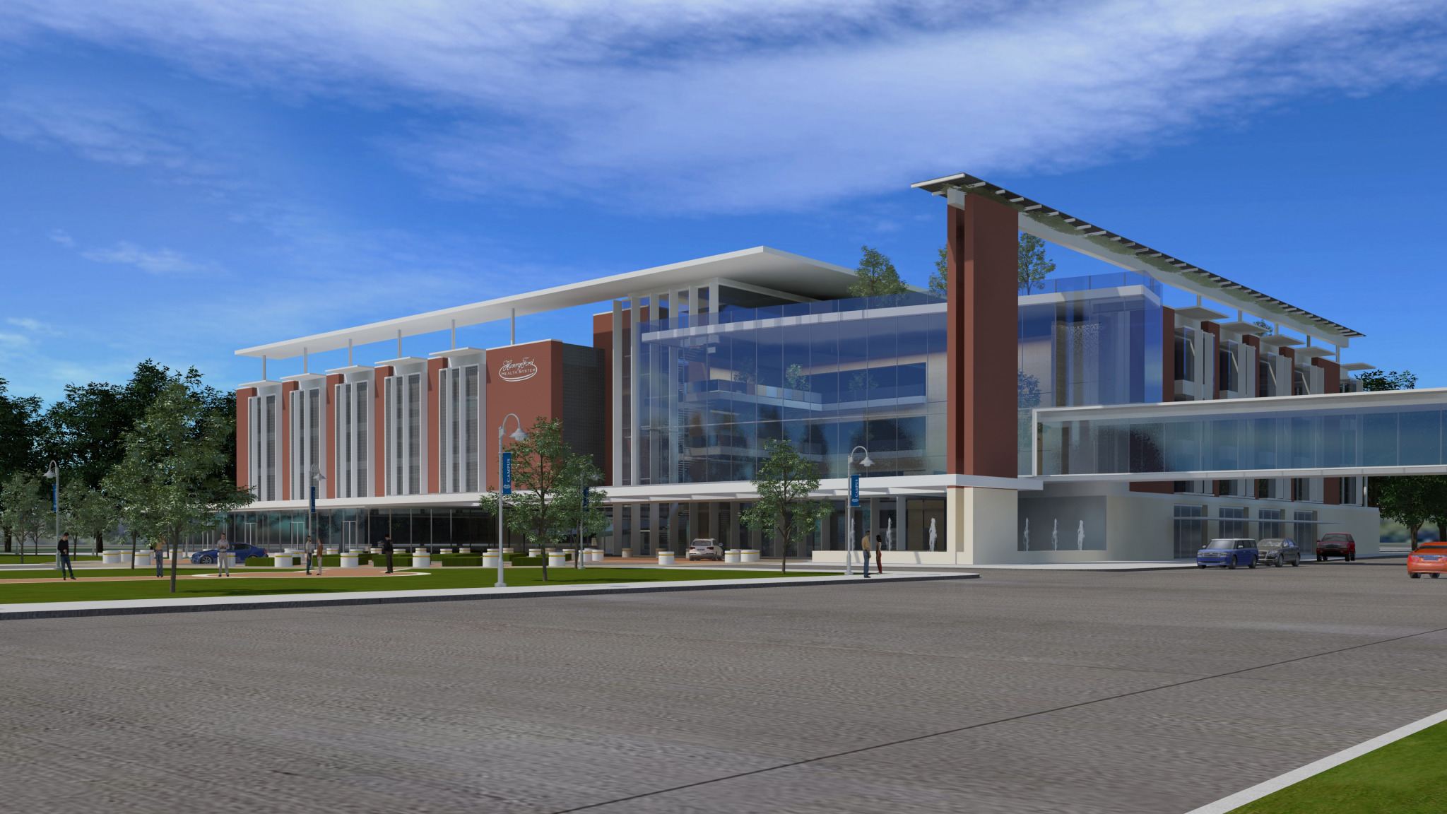 Henry Ford Hospital Cancer Facility rendering