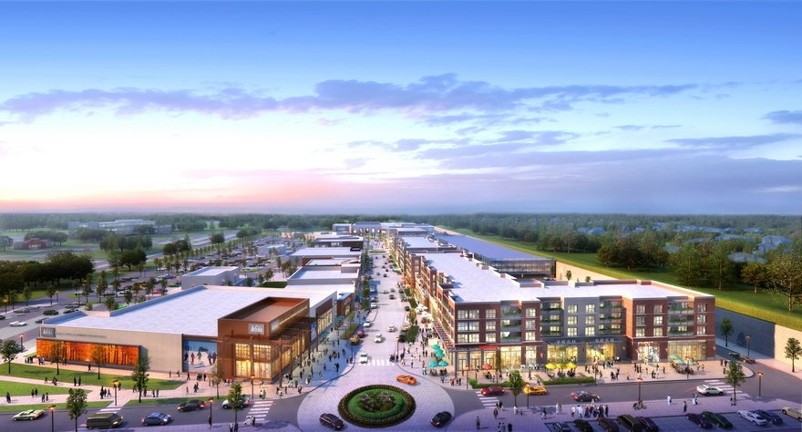 A rendering of the planned Pinecrest development in Orange Village.