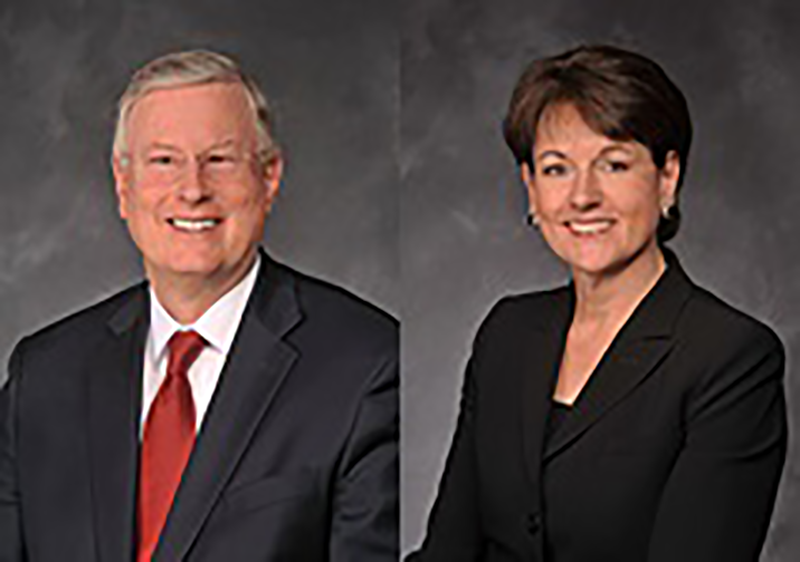 Stephen G. Schmitz and Laurie Hawkes, CEO and COO of American Residential