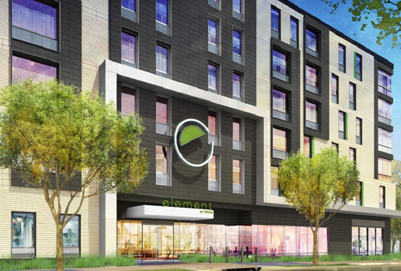 A rendering of Element Boston Seaport