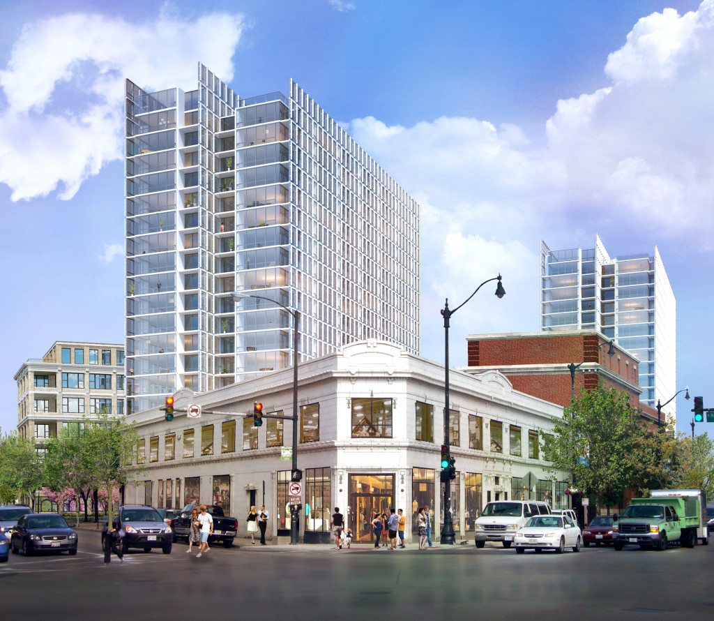Rendering of proposed development at the former Children's Memorial Hospital site in Chicago