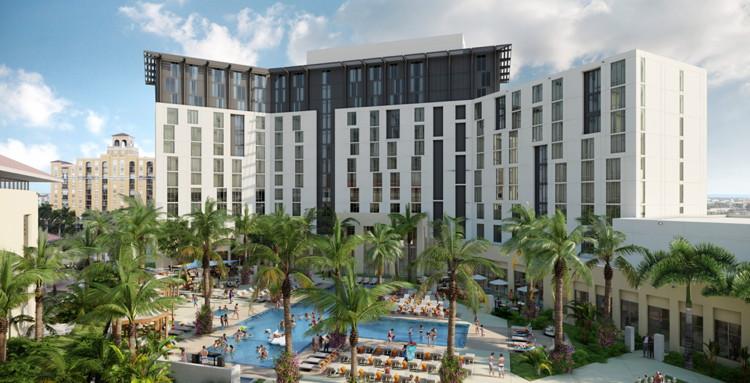 The Hilton West Palm Beach hotel