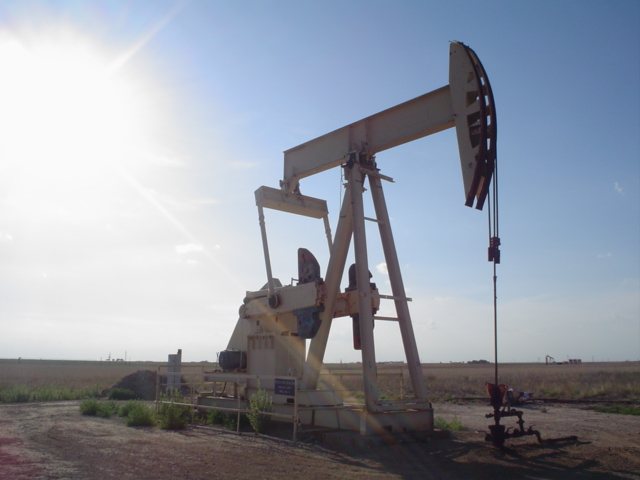 Pumpjack on an oil well in Texas