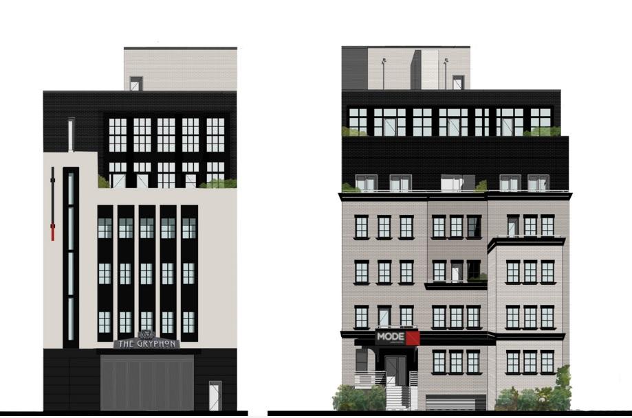 Rendering of D.C. Mode Aparthotel building redevelopment