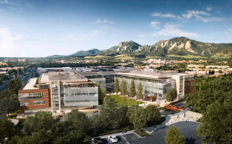 Rendering of Google's new campus in Boulder, Colo.