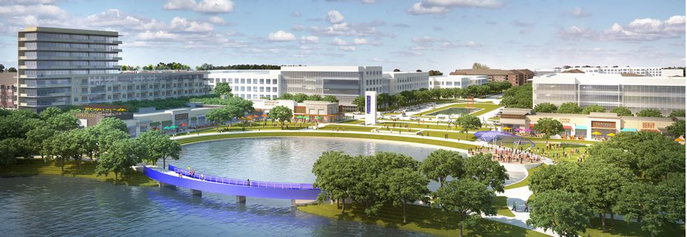 Rendering of Cypress Waters master-planned community, Dallas