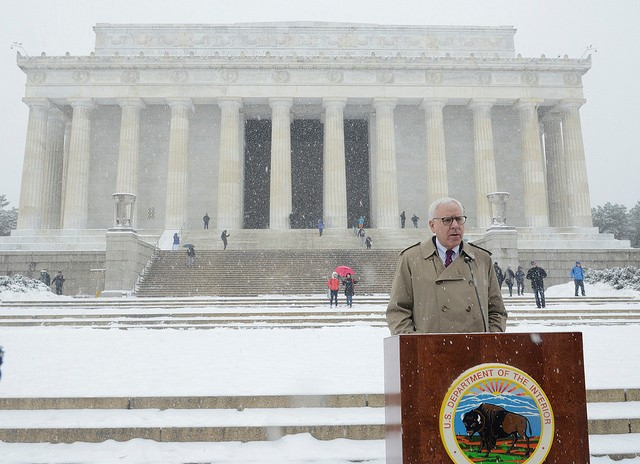 David Rubenstein at the Lincoln Memorial in Washington, D.C.