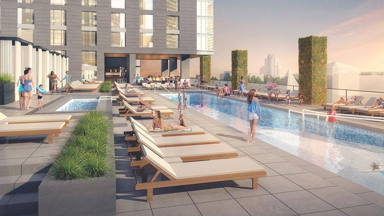 Omni Louisville rooftop pool