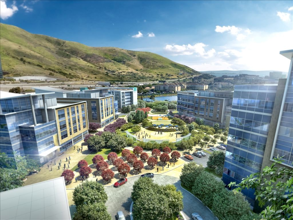 A rendering of The Cove at Oyster Point, San Francisco, Calif.