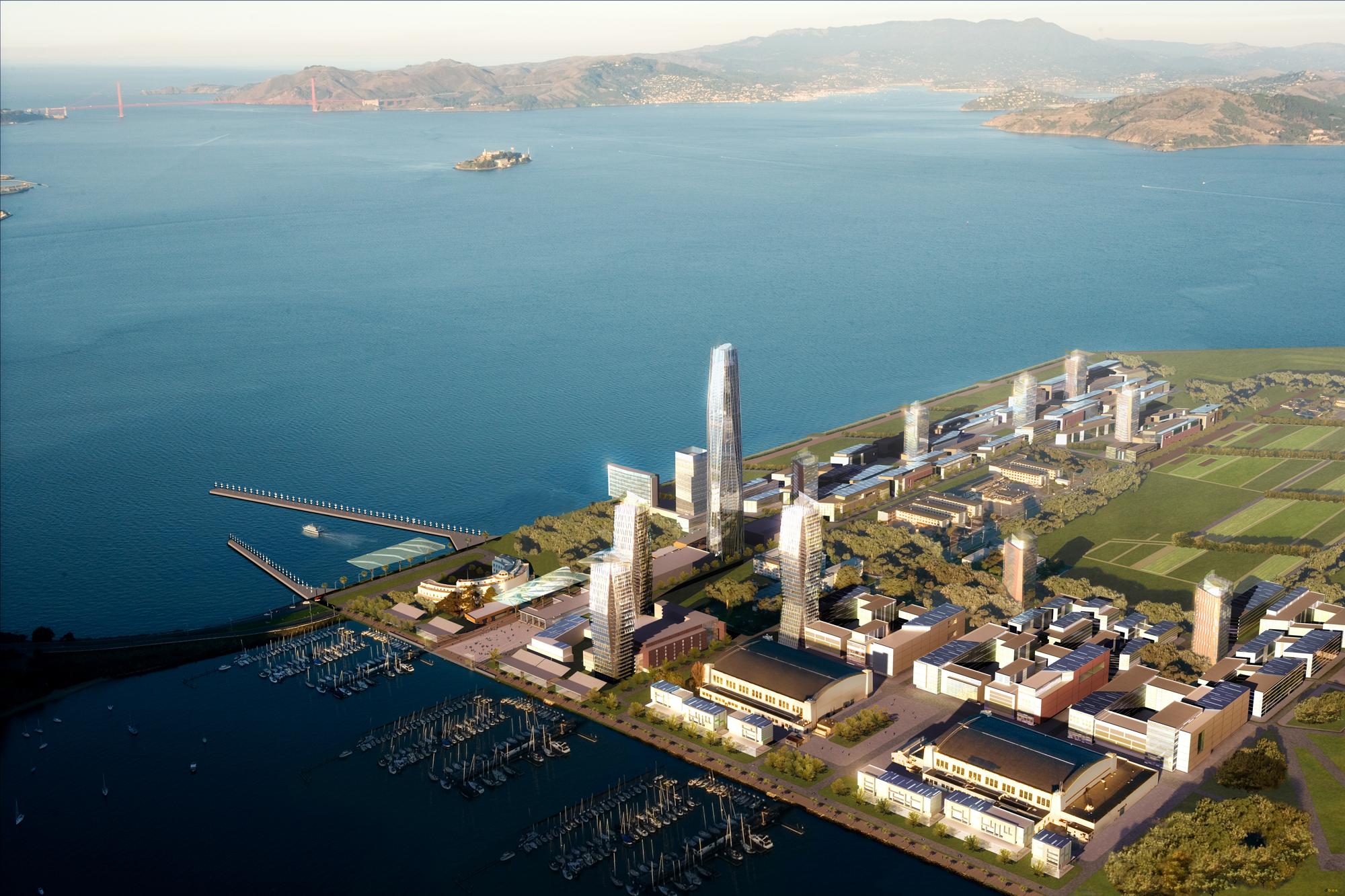 Rendering of Treasure Island, San Francisco