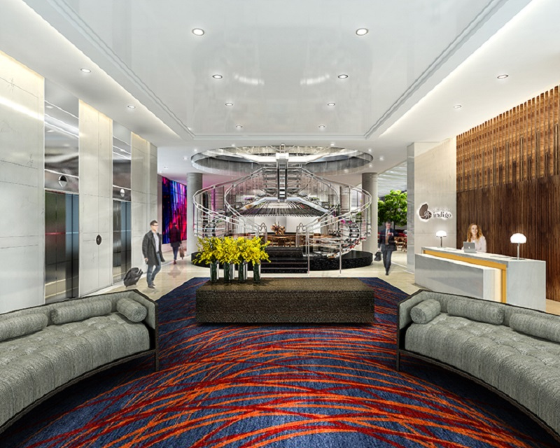 The new Hotel Indigo Downtown Atlanta is a highlight of Portman Holdings' makeover of 230 Peachtree St.