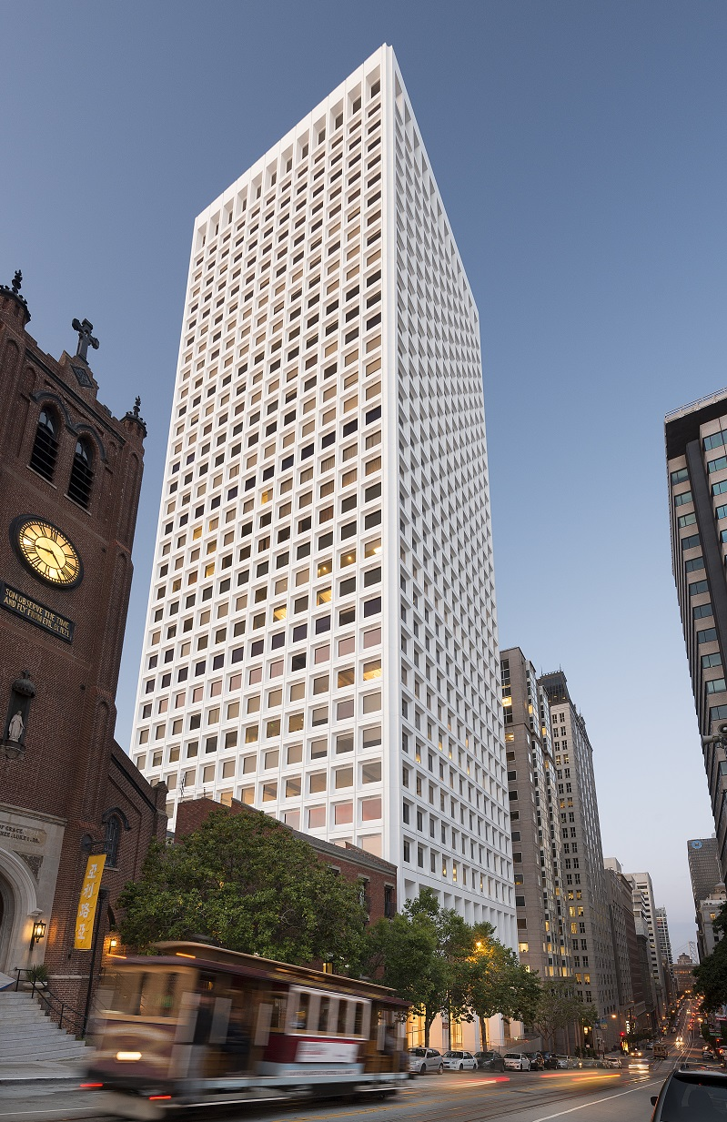 Columbia Property Trust's 650 California St. in San Francisco. The office REIT is concentrating 75 percent of its holdings in just four markets: San Francisco, Manhattan, Washington, D.C., and Boston.