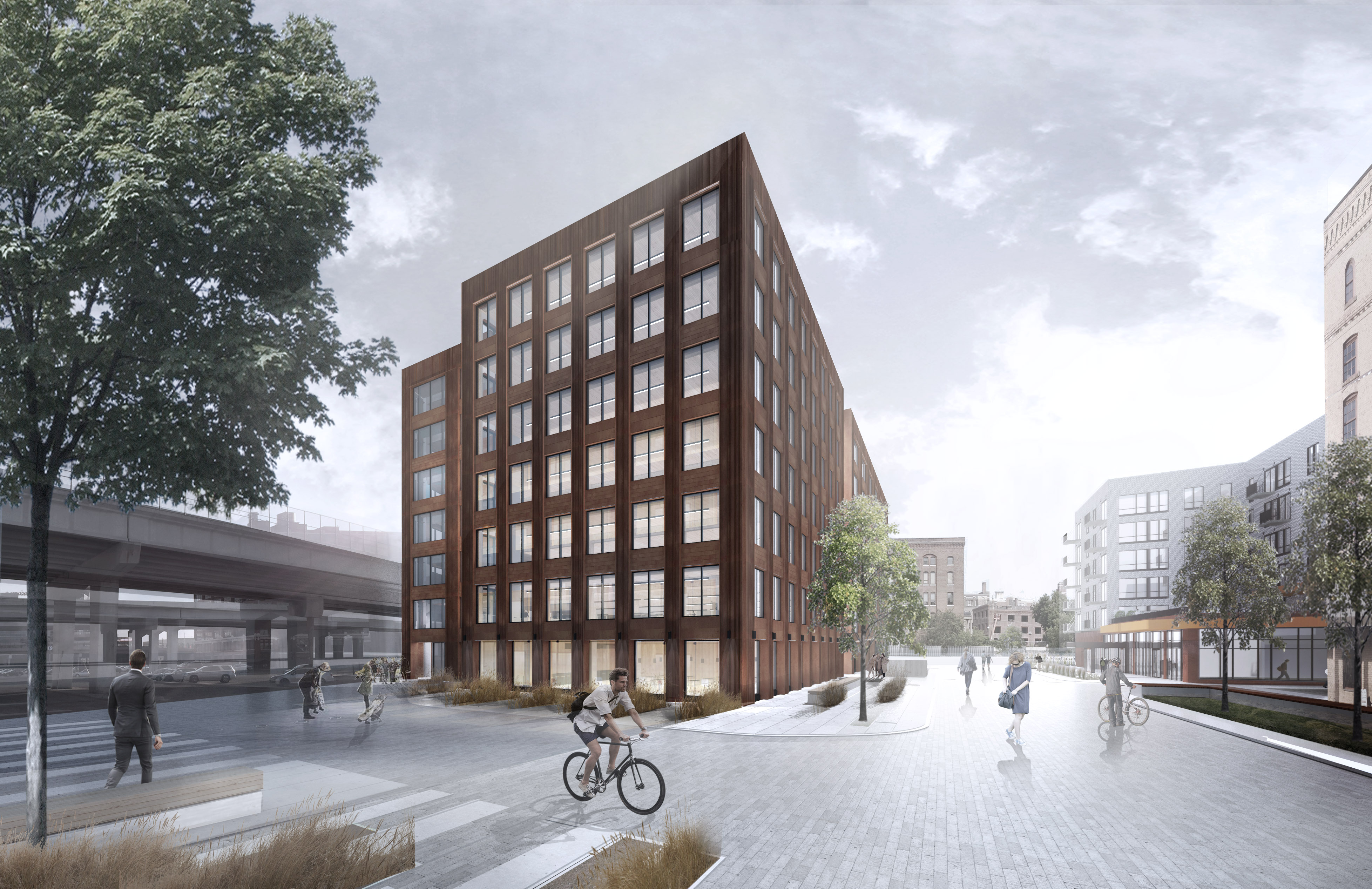 Hines' T3 Minneapolis, an innovative 224,000-square-foot timber office building schedule to open this fall in Minneapolis' North Loop neighborhood that will be the first tall building to employ naturally engineered, renewable wood for its exterior and interior.