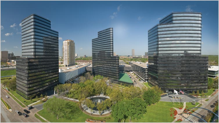 Cousins Properties' 1.4 million-square-foot Post Oak Central complex in Houston will become part of the new REIT as part of the merger agreement with Parkway Properties.