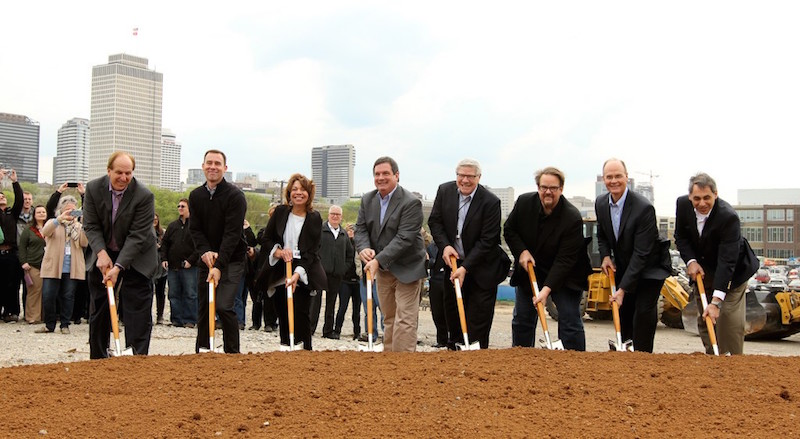 The groundbreaking for the Lifeway Christian Resources planned headquarters at