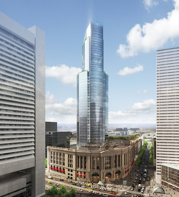 Rendering of the planned redevelopment of South Station, Boston