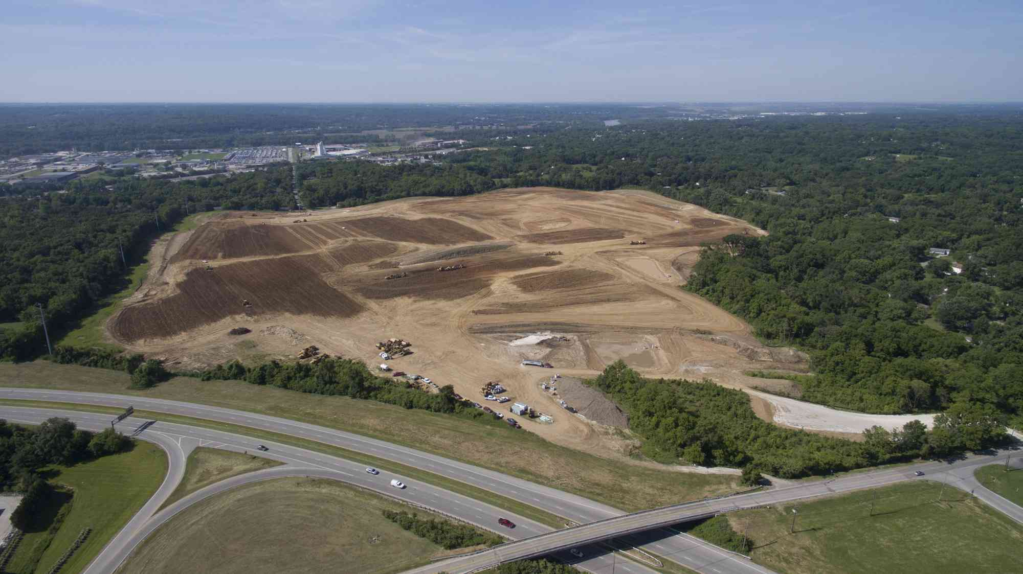 The site of Amazon's third fulfillment center in the K.C. area