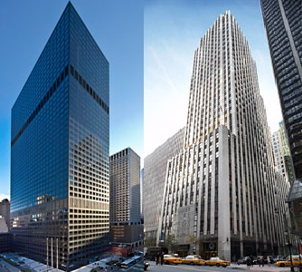 919 Third Ave. (left) and 220 E. 42nd St. (right) in New York City