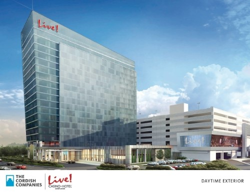 Rendering of the future Live! Hotel at Maryland Live! Casino