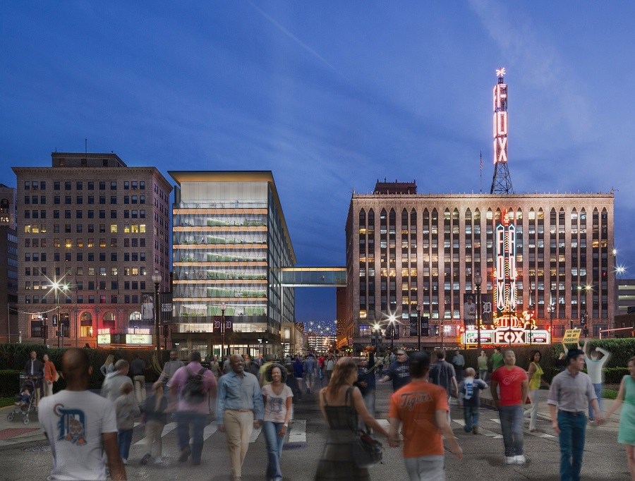 Rendering of the New Little Caesars Headquarters