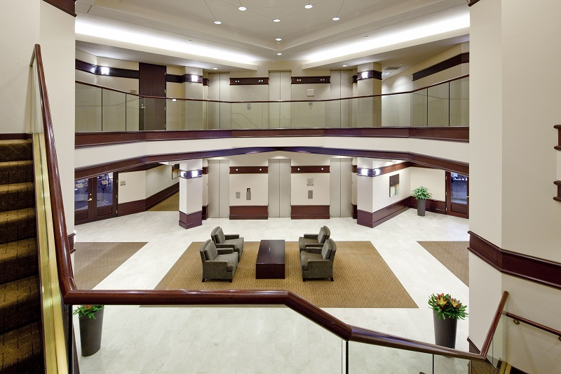 The lobby of Shorenstein's Lincoln Tower