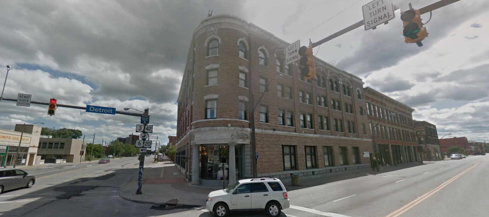 The Forest City Savings and Trust building in Cleveland (image via Google Street View)