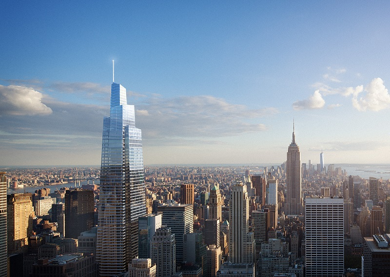 SL Green Realty Corp.'s One Vanderbilt, under construction next to Grand Central Terminal in Midtown Manhattan, is a candidate to become among the fist buildings in New York City to achieve LEED v4 Gold certification.