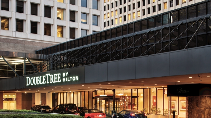 Entrance at Double Tree by Hilton Hotel Houston Downtown