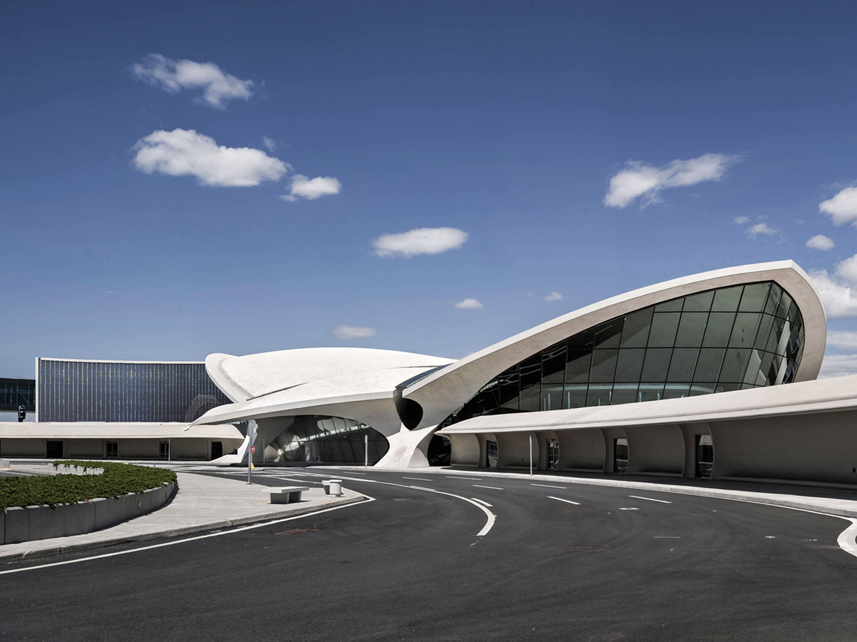 The TWA Flight Center at John F. Kennedy International Airport is the centerpiece of a planned $256 million hotel that will restore the half century-old architectural masterpieceto its original grandeur. Photo by John Bartelstone Photography.