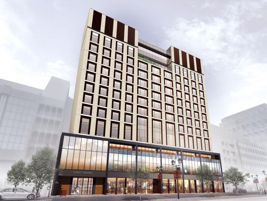 Hyatt Centric Ginza Tokyo, rendering