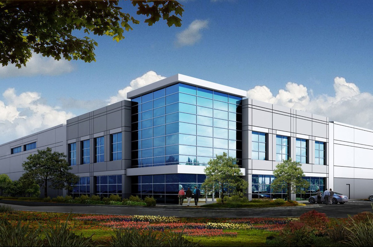 Rendering of one of the nine buildings at Conejo Spectrum, Thousand Oaks, Calif.