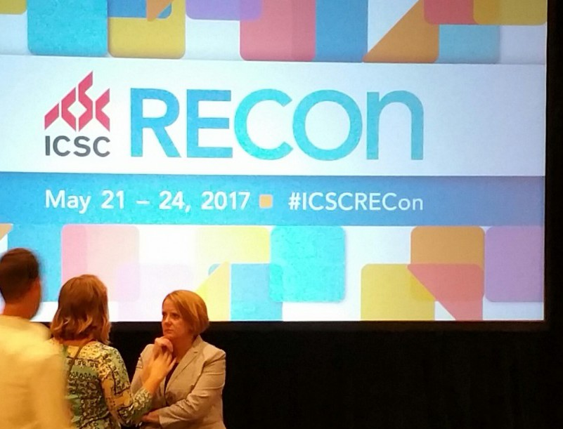 Heather Arnold of Streetsense discusses mixed-use development after a presentation at RECon.