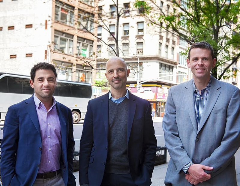 Adam Mahfouda, co-founder of Oxford Property Group; Oded Hecht, founder of the Titan division of the Hecht Group; and Greg Harden, co-founder of Oxford Property Group.