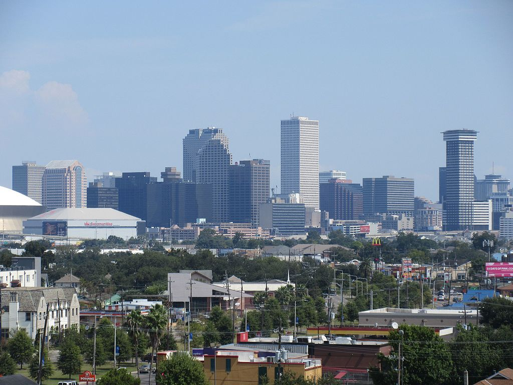 New Orleans skyline, September 2016 (Photo courtesy of Wikimedia Commons user Infrogmation of New Orleans)