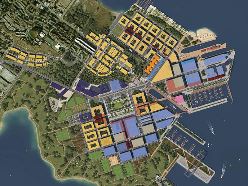Proposed master plan of The San Francisco Shipyard