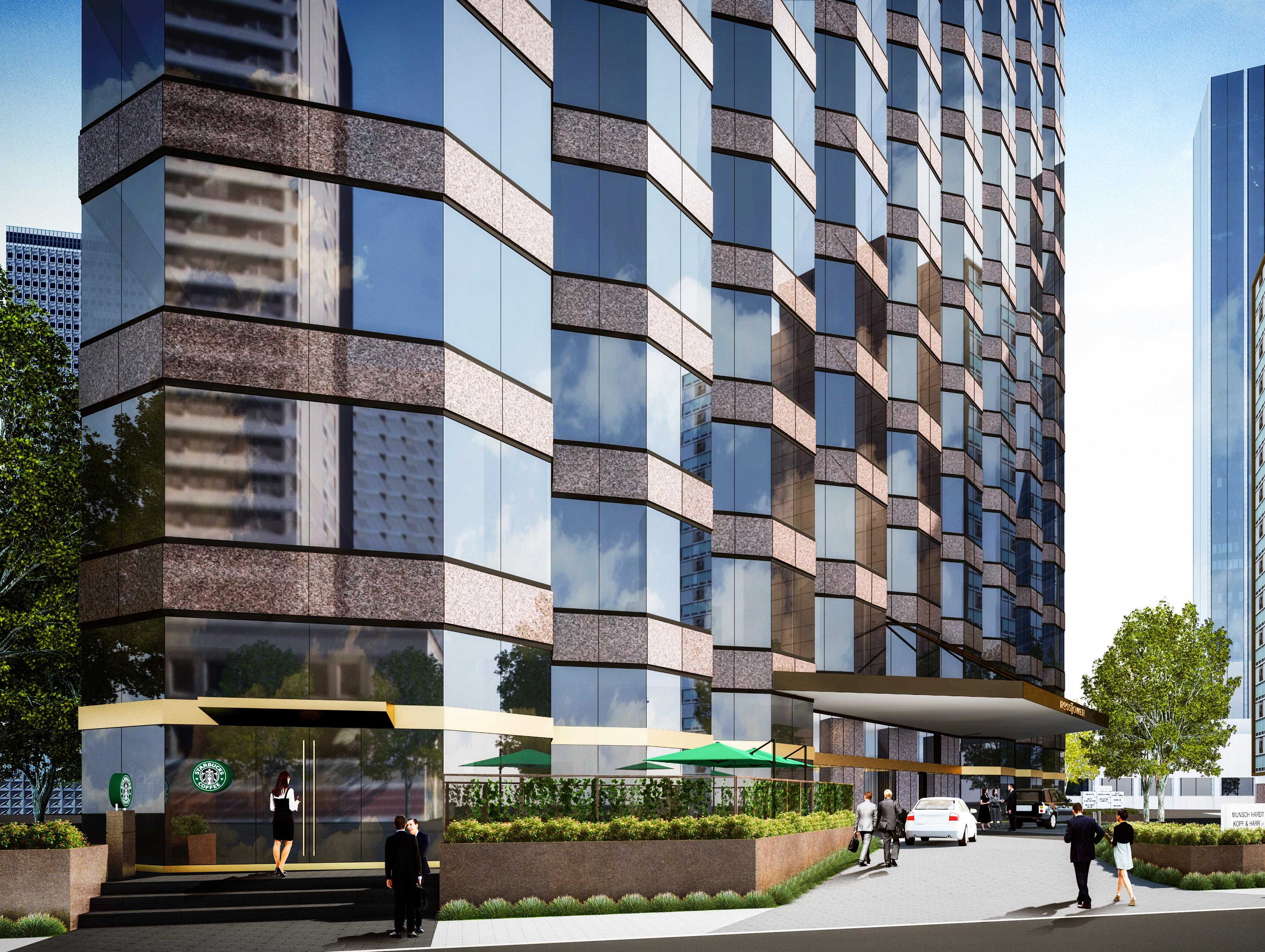 Rendering of improvements at Ross Tower in Dallas