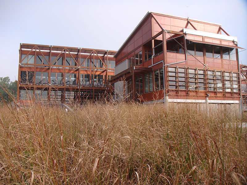 The Philip Merrill Environmental Center, serving as the Chesapeake Bay Foundation's headquarters, was the world's first LEED Platinum certified building. (Image courtesy of Wikimedia Commons user Daniel Christensen)