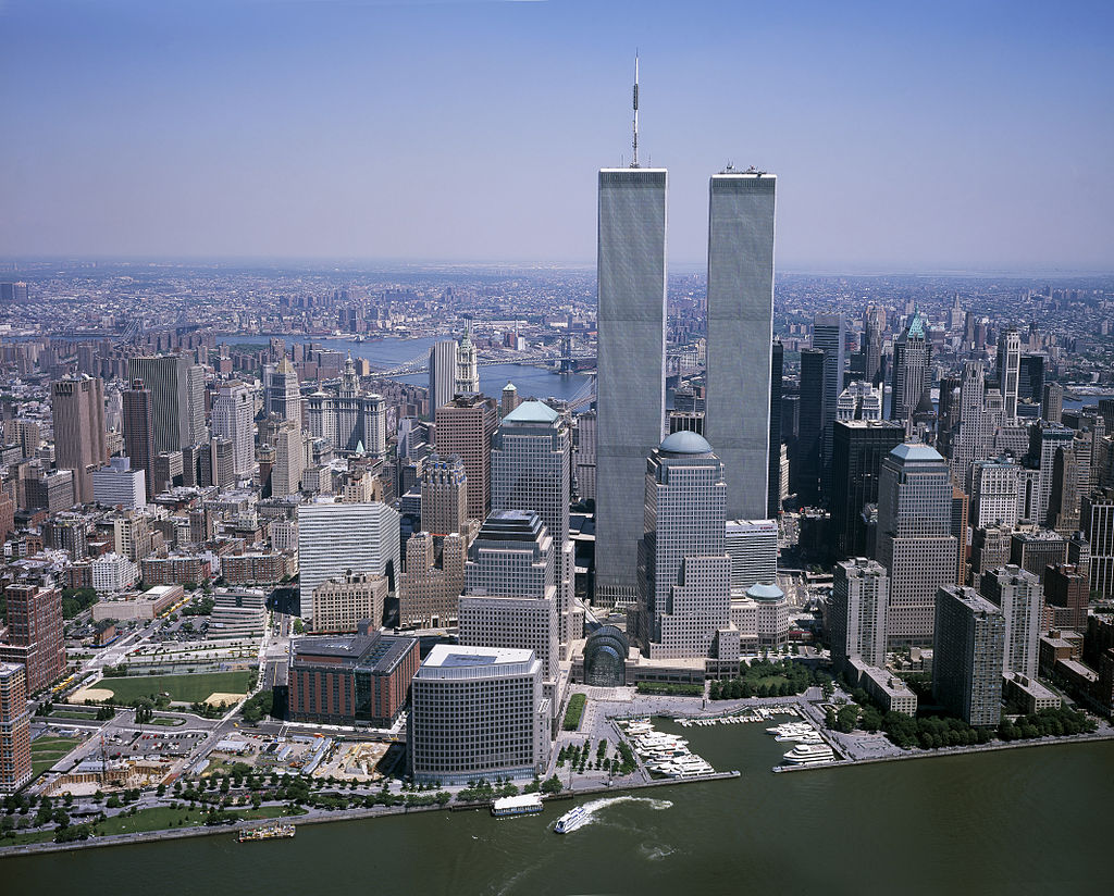 The original twin towers of the World Trade Center (photo by Carol Highsmith)