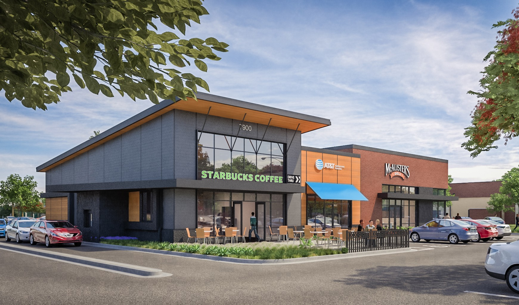Rendering of Plantation Pointe retail component