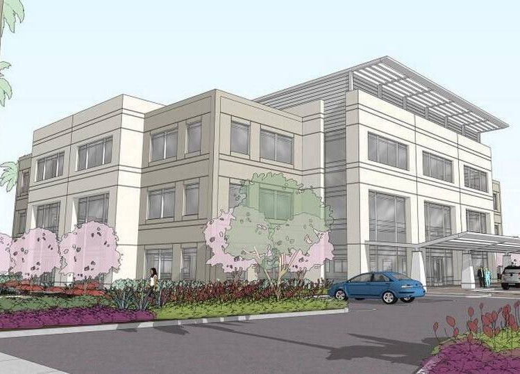 Rendering of Dignity Health medical office building, Citrus Heights, Calif.