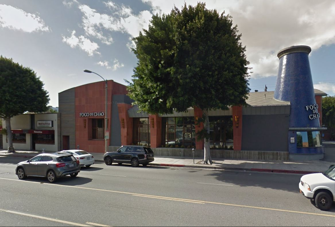 Matsuhisa and Fogo de Chao restaurants on La Cienega Boulevard, Los Angeles