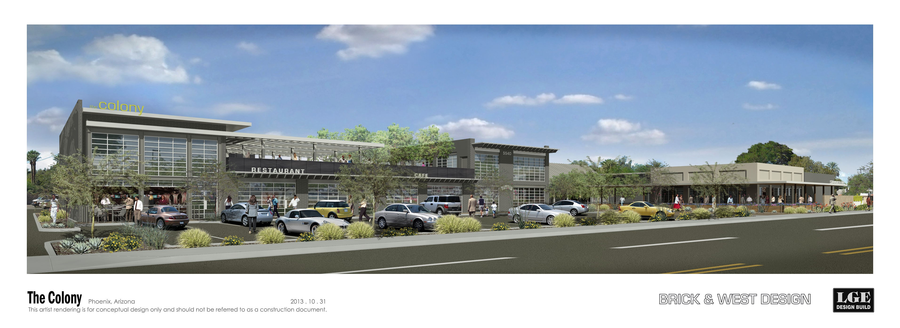 A rendering of The Colony development in Phoenix.