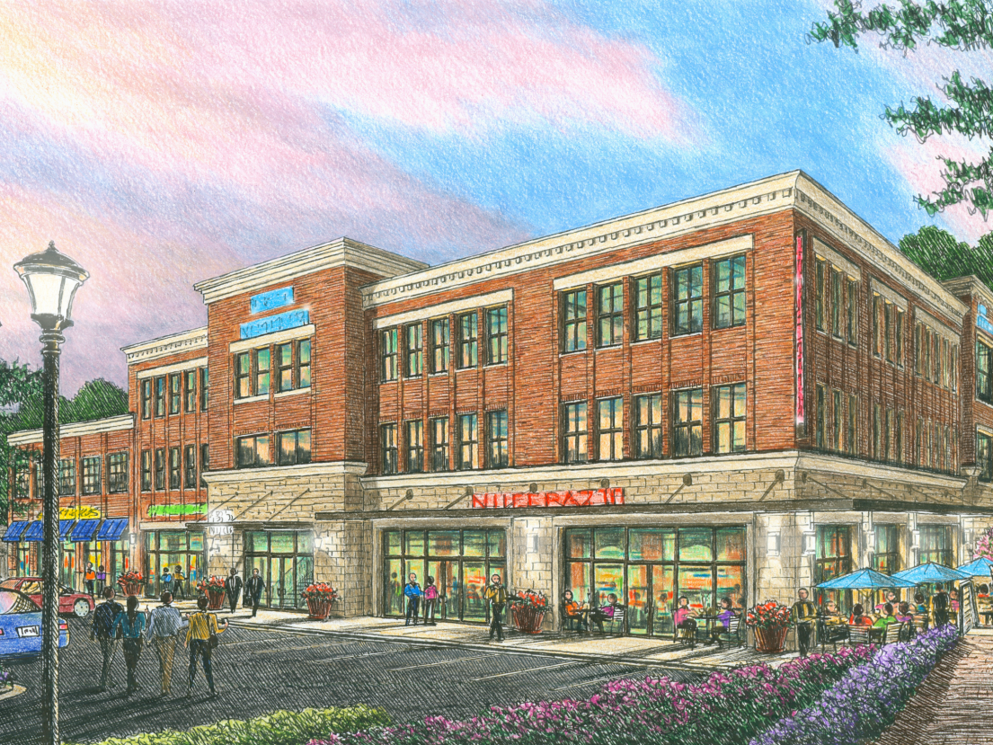Rendering of the redeveloped Western Plaza