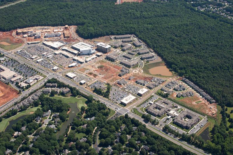 Aerial view of Waverly in Charlotte. N.C.