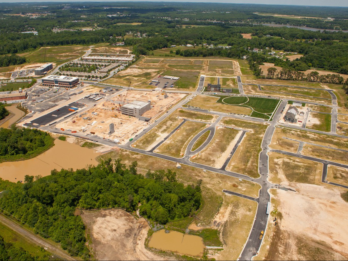 Greenleigh at Crossroads site, aerial view