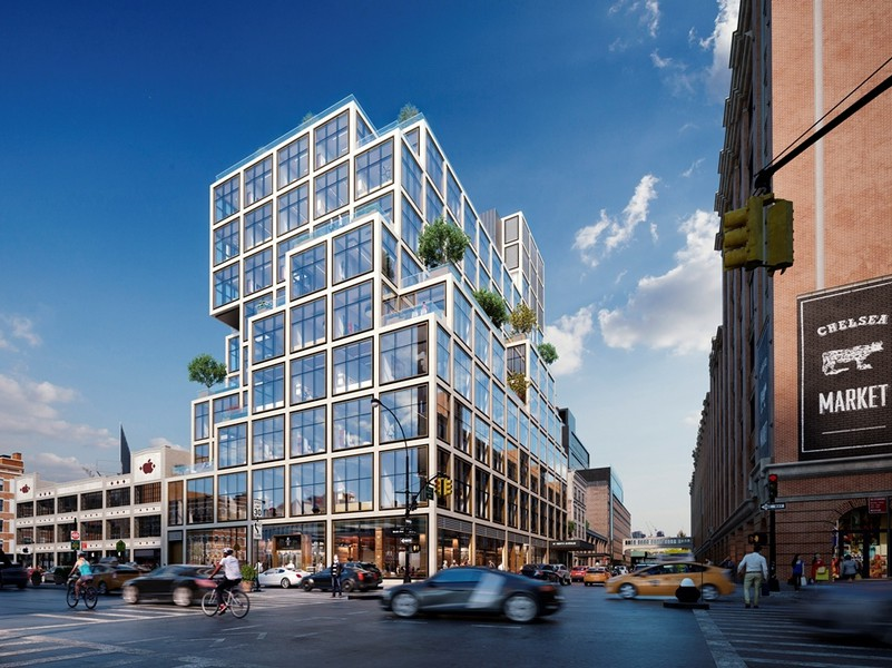 61 Ninth Ave., an office and retail development under construction by Vornado in Manhattan
